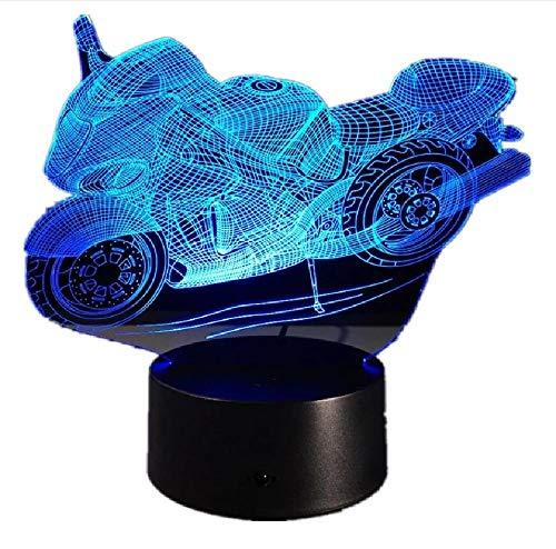 Motocicleta 3D lámpara de mesa Led DecorativePlexiglas Placa de noche Nightlight Bulbing lámpara para ventilador de motor