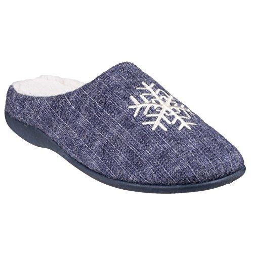 Fleet & Foster - Zapatillas de Estar por casa Modelo Metz para Mujer (38 EU/Azul)