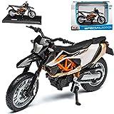 NEW K-T-M 690 SMC R Supermoto Weiss Orange Schwarz 2012-2019 1/18 Maisto Modell Motorrad