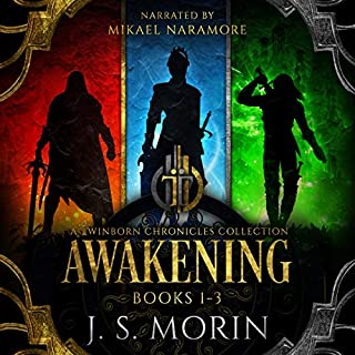 Twinborn Chronicles: Awakening Collection                   By:                                                                                                                                 J.S. Morin                               Narrated by:                                                                                                                                 Mikael Naramore                      Length: 67 hrs and 32 mins     717 ratings     Overall 4.6