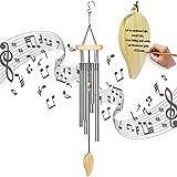 opamoo Carillon Vento, Scacciapensieri tubolari Sonaglio a Vento Metallo Argento Appendere con Suono Rilassante e Naturale Musicali per Esterni Giardino Patio Cortile Decorazione per la casa Regalo