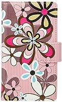 mitas iPhone8 ケース 手帳型  花 花柄 花がら フラワー ピンク (249) SC-0058-PK/iPhone8