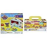 Play Doh Horno Magico (Hasbro B9740Eu4) + -Pack 20 Botes, Color Surtido, (Hasbro A7924Euc)