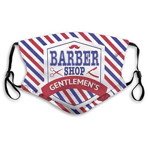 N / A Outdoor Sturmhaube,Premium Schutzhülle,Unisex Gesichtsschutzhülle,Vintage Emblem Der Barber Shop Flagge Gesichtsschal,20X15Cm