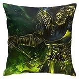 Yuanmeiju Video Game Guild War Pillow Case Soft Polyester Pillow Case with Hidden Zipper Suitable for Room Decor Set (2 Pcs)
