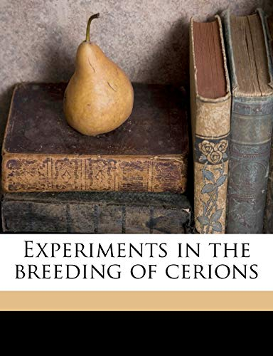 Experiments in the Breeding of Cerions