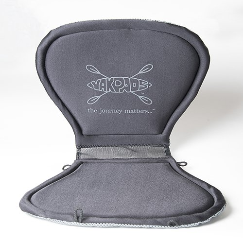 Yakpads High Back Cushioned Seat Pad, Gel Seat Pad for Kayaks, Portable Seat Cushion for Outdoor Watersports and Recreation - Cascade Creek (Highback)