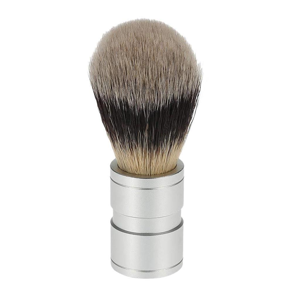 むちゃくちゃ万一に備えてコミュニケーションTOOGOO 1ピース 男性のヘアシェービングブラシ ステンレス金属ハンドル ソフト合成ナイロンヘア理髪ブラシ 快適な ひげ剃りツール