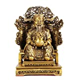 LAOJUNLU Pure Copper Nine Dragons God of Wealth Emperor's Chair Fortuna Living Room Office