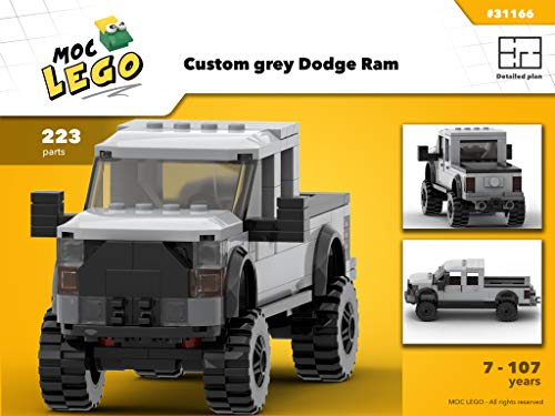 Custom grey Dodge Ram (Instruction Only): MOC LEGO (English Edition)