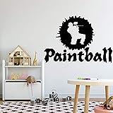 hetingyue Etiqueta de la Pared de Paintball Etiqueta de la Pared decoración del...