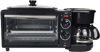 Mini horno eléctrico de 9L con doble placa calefactora, funciones de cocción multifunción 3 en 1 y parrilla, control de temperatura ajustable, temporizador - 600W