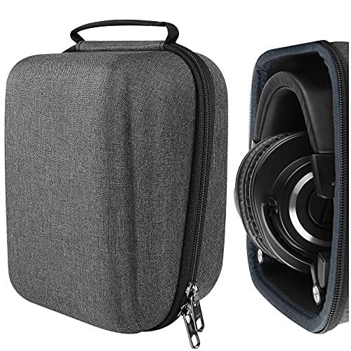 Geekria Custodia rigida per cuffie Audio-Technica ATH-M50X, ATH-M50xBT, ATH-M50, ATH-M40X, ATH-M40FS, ATH-M35, ATH-M30, M70x Pro, Auricolari Borsa da viaggio