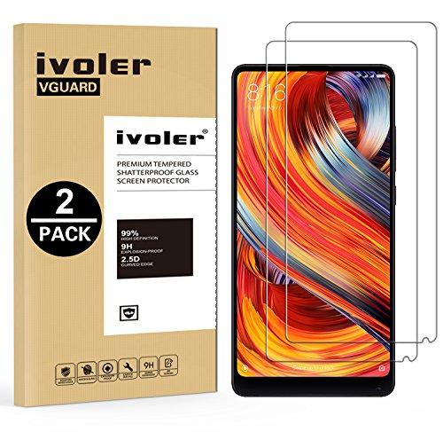 ivoler [2 Unidades] Protector de Pantalla para Xiaomi Mi Mix 2 / Xiaomi Mi Mix 2s, Cristal Vidrio Templado Premium