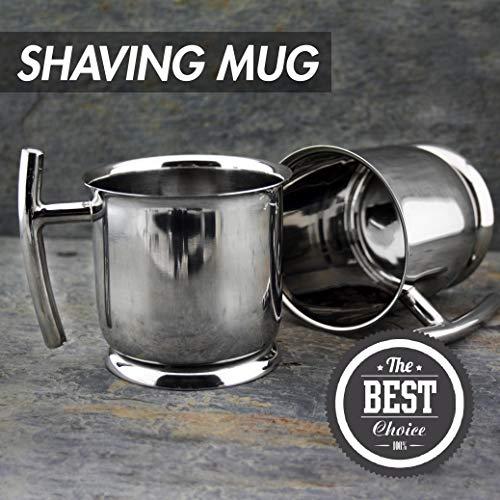 Top Grade Stainless Steel Shaving Mug - Perfect for Wet Shaving - Unbreakable & 100% Rust Resistant - New Design