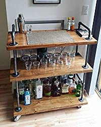 professional WGX Design for You Wine Rack with Wheels Made of Wood and Metal Kicthen Bar Dining Tea  Wine Rack…