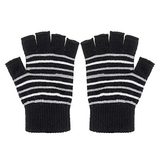 1 paar elektrische USB verwarmde handschoenen winter breien thermische handschoenen handen vest cadeau zwart