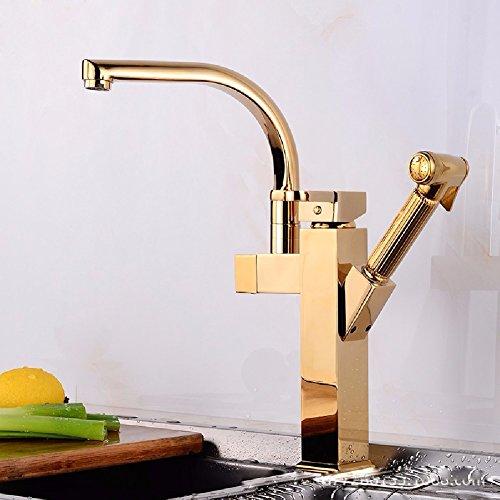 HQLCX Robinets de lavabo Pleine Rotation Cuisine Robinet Multifonctionnelles Lavabo Abreuvoir Le Chaud Et Le Froid Robinet