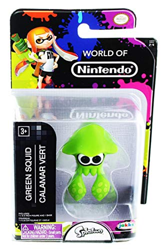 Nintendo World of 2.5' Mini Figure Green Squid