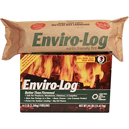 Enviro-Log Earth Friendly Fire Log, 5 lb, Burns Cleaner Than...