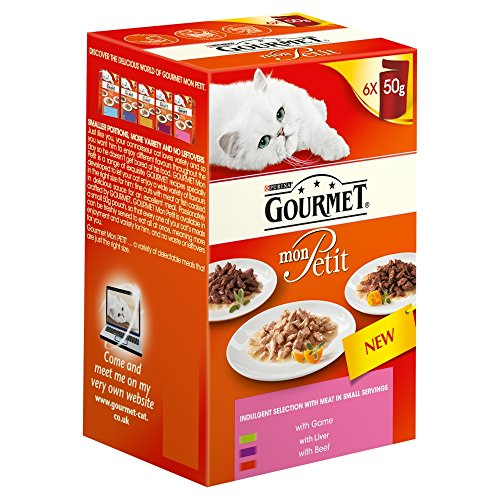 Gourmet Mon Petit Cat Food Pouces Mixed, 6 x 50g