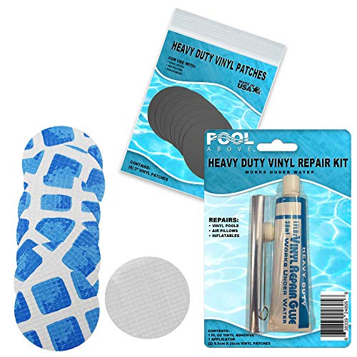 Repair Kit for Easy Set, Fast Set, Frame Set Pool Liner | Vinyl Patches and Glue
