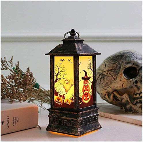 XYSQWZ Flame Fireplace Lamp Halloween Led Lantern Battery Lantern Wind Light Decoration Simulation Flame Light Portable Lamps Ghost Light Outdoor Hanging Lanterns Lighting Waterproof For Table