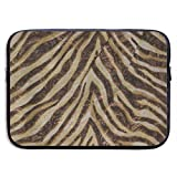 Bolsa para ordenador portátil Bagels Metallic Zebra Animal Print Bronce Oro Cobre Bronceado Impermeable 13-15 Pulgadas IPad MacBook Surface Book Notebook Ultrabook