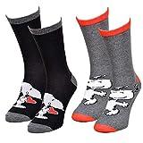 Disney Socks And Underwear – Herren-Socken Lizenz: Disney, Simpsons, Looney Tunes, Snoopy, aus Baumwolle, verschiedene Modelle je nach Verfügbarkeit, mehrfarbig Gr. 43/46, 2 Paar Snoopy