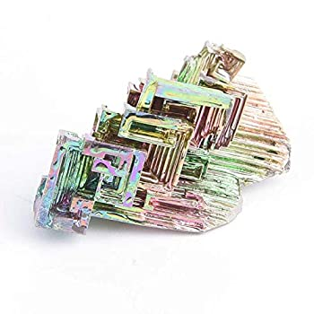 BigKoroStore 1pcs colorful pure 20g bismuth crystals making metal crystal random tray glasses s aluminum chocol bismuth geod concealer lead polish iron specimen makeup gold rainbow