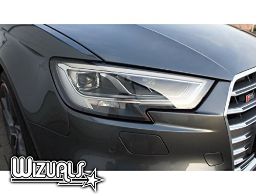 DEVIL STRIPES Eye TEUFEL koplamp ORIGINELE WIZUALS + MIRROR STRIPES SET, 6-delig SET 4x DEVILSTRIPES incl.2x GRATIS MIRROR STRIPES voor uw YARIS in ZWART