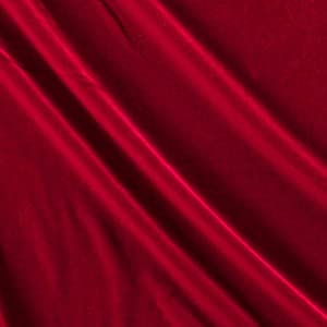 Ben Textiles Stretch Velvet Fabric by The Yard, Autumn Red