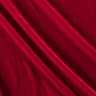 Ben Textiles Stretch Velvet, Yard, Red