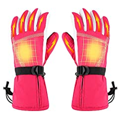 【HIGH QUALITY MATERIAL】Made of waterproof polyester fabric, two sizes for men and women. the liners with breathable and soft material keep your hands comfortable and it also absorbs moisture to help keep your hands dry . 【3 TEMPERATURE LEVELS ADJUSTA...