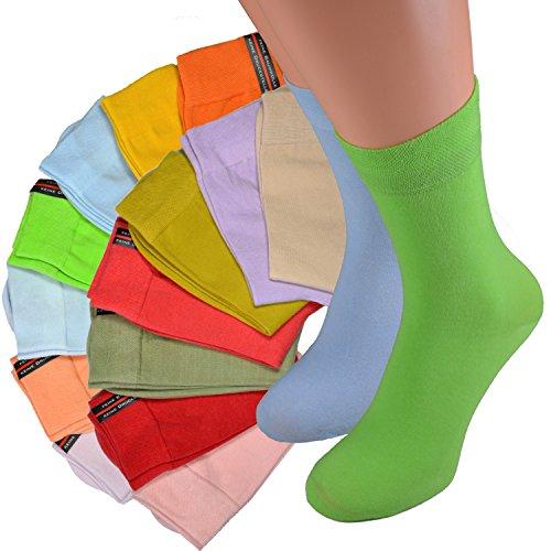 Good Deal Market 16 Paar Damen-Socken helle Sommer Gr. 39/42 Frühlingsfarben Premiumqualität 200-Nadel Weichb& Söckchen mit viel Baumwolle 35 36 37 38 39 40 41 42