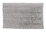 homestuff4you Badematte Rutschfest – Graue Badezimmermatte Maximales Wohlbefinden im Bad mit unserem Badvorleger Teppich (Grau, 50 x 80 cm)