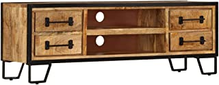 vidaXL Solid Mango Wood TV Cabinet with Drawers HiFi Stand Entertainment Unit