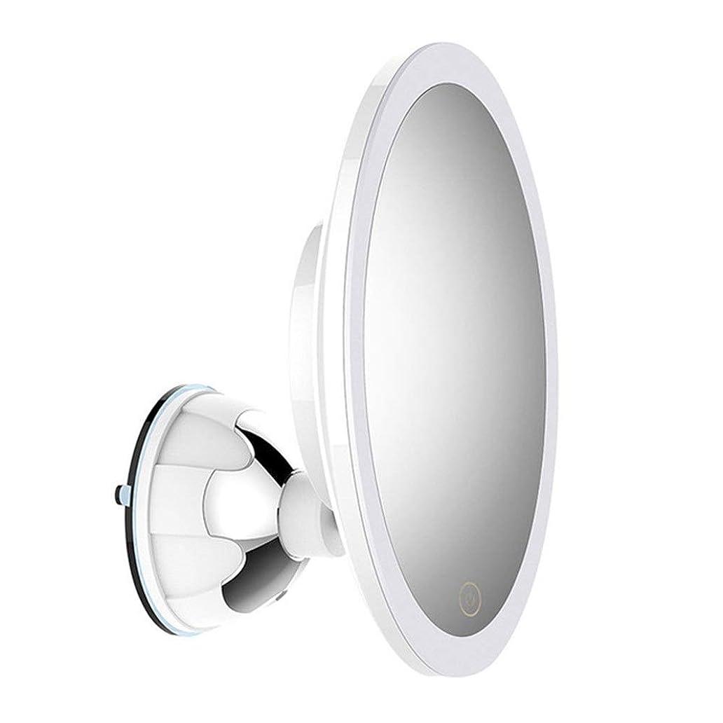 干し草炭素簡略化する化粧鏡 化粧鏡、拡大鏡バニティミラー10倍拡大鏡拡大鏡メイクアップ化粧品ビューティーケアピンセットのために目とブラックヘッド/ミッシュ取り外し、ラウンドミラー (色 : 白, サイズ : 15.6cm)