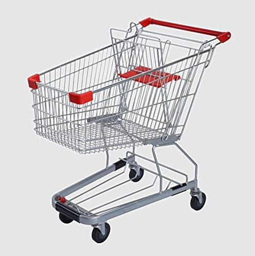 FixtureDisplays 4.4 Cubic Foot 125 L Shopping Cart Grocery Supermarket Store Cart 16000