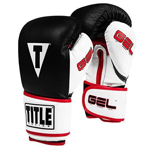 Title Gel Intense Bag Gloves, Black/White/Red, 16 oz