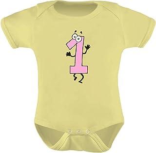 Tstars - Baby Girl I'm 1 Bodysuit One Year Old Birthday Gift Cute Baby Bodysuit