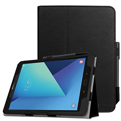 Fintie Custodia per Samsung Galaxy Tab S3 9.7 in Pell - Slim Fit Folio Sottile Pieghevole Case Cover Con Funzione Sleep/Wake per Samsung Galaxy Tab S3 SM-T825N/SM-T820N 9.7-inch Tablet, Nero