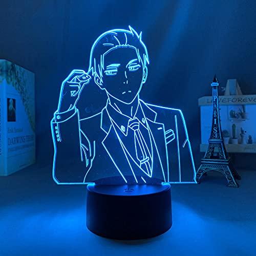 Figura de acción anime LED de luz nocturna manga, el balance detectivo millonario ilimitado Huesca, lámpara de salón de decoración Light-Touch