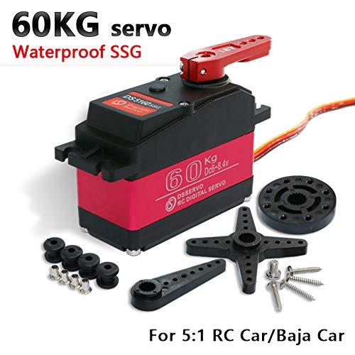 1X hohe Drehmoment servo Baja servo 60 kg DS5160 Digital Servo für 1/5 Redcat HPI Baja 5B SS RC servo Auto kompatibel SAVOX-0236 (Control Angle 180)