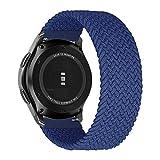 MroTech Compatible con Huawei Watch GT 2 46 mm/GT 2e/GT2 Pro Correa Nailon 22mm Pulseras Repuesto para Samsung Galaxy Watch 3 45mm/Gear S3 Frontier/Galaxy 46mm Banda Nylon Woven Loop Deportiva-Azul/L