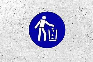 SchabloneAbfallbehälter benutzen zweiteilig, Gebotszeichen M030