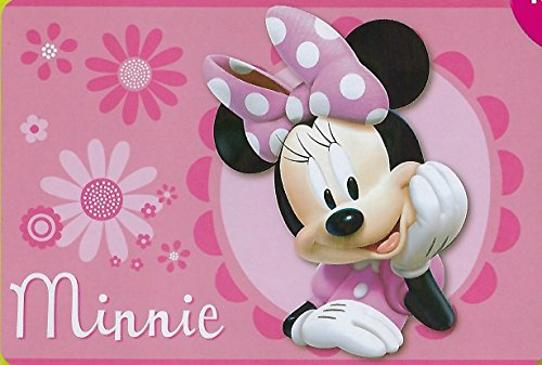 Minnie Mouse Area Rug with Non-Slip Back