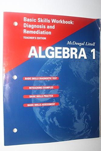 McDougal Littell High School Math: Basic Skills Workbook (Teachers Edition) A...