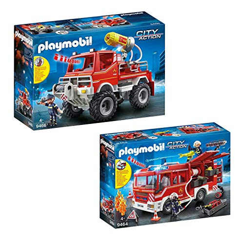 PLAYMOBIL 9464-66 Set 9 de Bomberos: 9464 + 9466