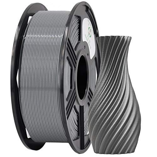YOYI 3D Printer Filament,PETG Filament 1.75mm 2.2lbs(1kg) Spool, Dimensional Accuracy +/- 0.03 mm,100% Europe Raw Material (Grey)